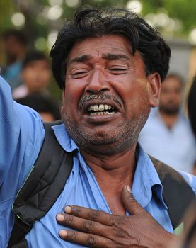 A Saradha chit fund investor at a protest rally | Salil Bera