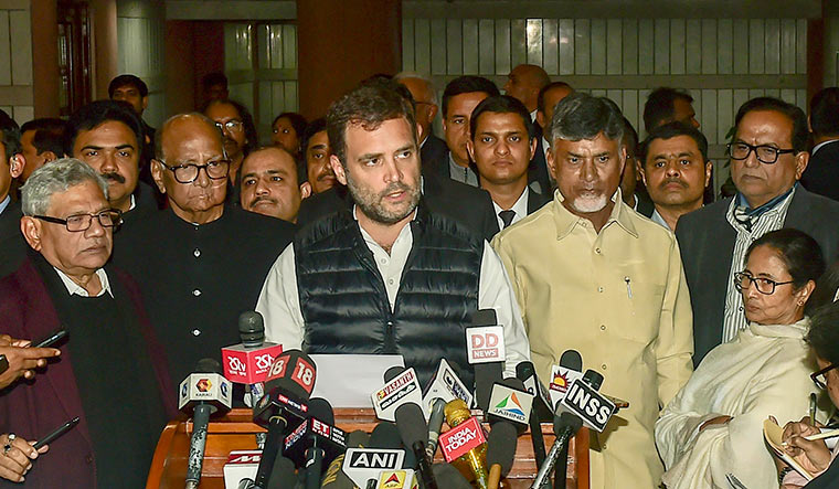 Notwithstanding the exit poll predictions, the opposition is going ahead with its strategy as most parties have trashed the forecast and claimed that the NDA would not get a majority in the Lok Sabha | PTI
