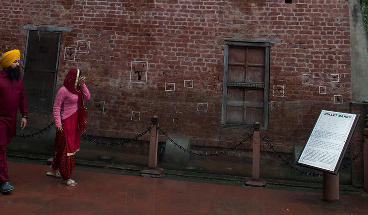 Marks of Brutality: Bullet marks on the walls of the Jallianwala Bagh | Sanjay Ahlawat