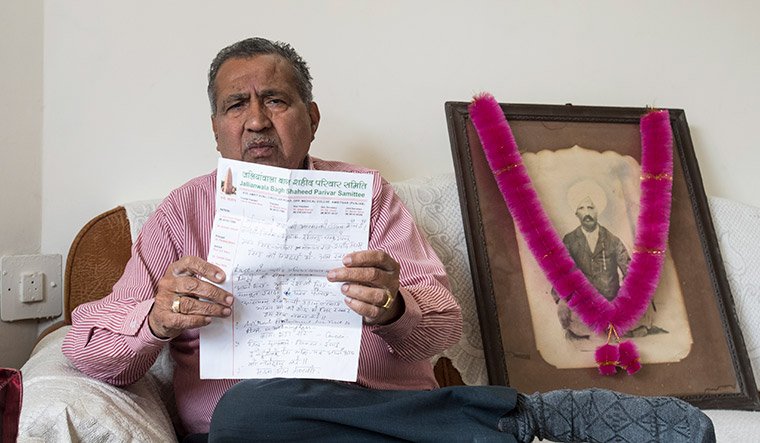 Mahesh Behel, grandson of martyr Hari Ram Behel | Sanjay Ahlawat