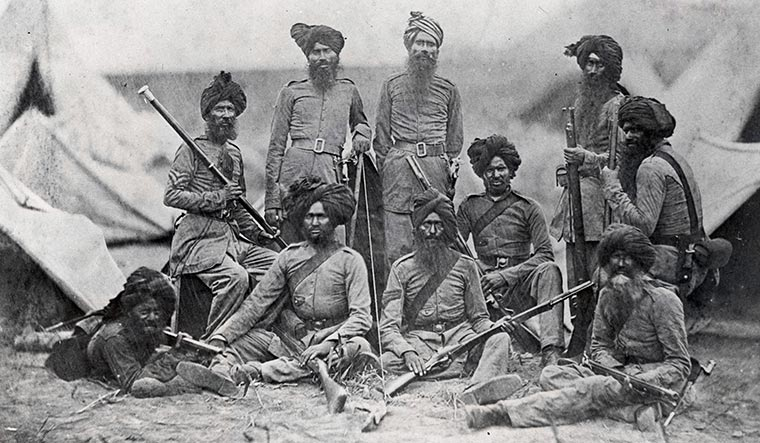 Sikh soldiers of the15th Punjab Infantry regimentfought with the British during the Revolt of 1857
