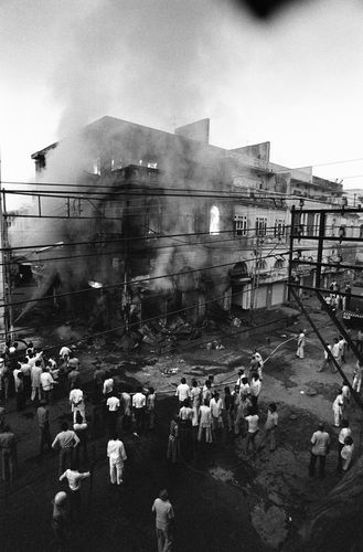 A building burned during the anti-Sikh riots in 1984 | AFP
