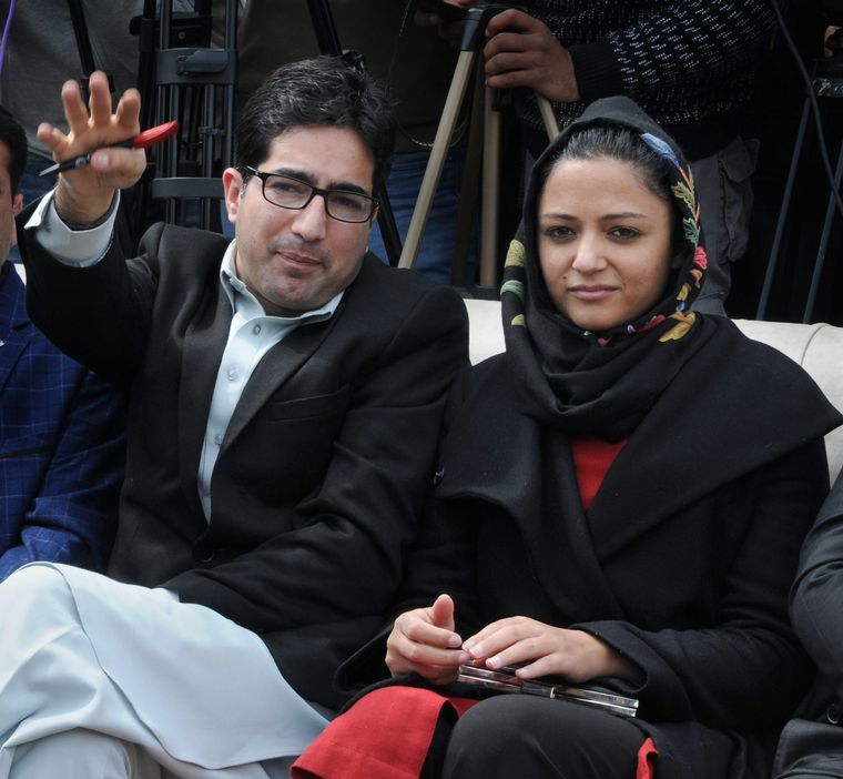 Shah Faesal and Shehla Rashid of the newly formed J&K People's Movement Party | PTI