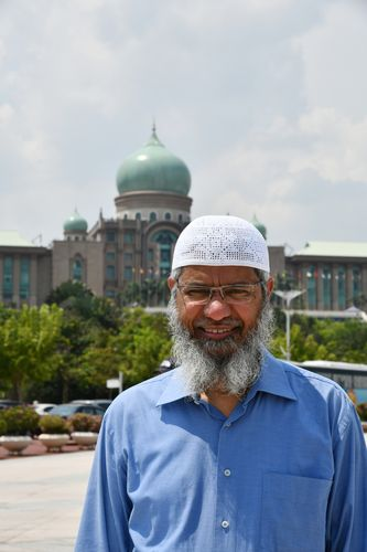 Power play: Naik in front of Perdana Putra, Malaysian Prime Minister's office in Putrajaya | Sanjay Ahlawat