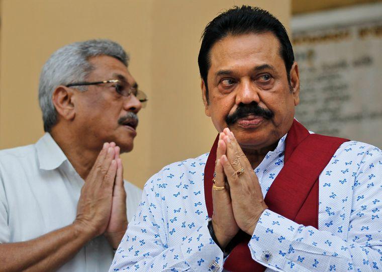 Family first: Gotabaya with Mahinda Rajapaksa | AP
