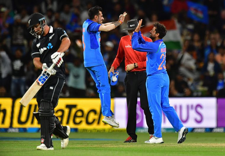 Spinning a web: Chahal and Kuldeep will help India get wickets in the middle overs | AFP