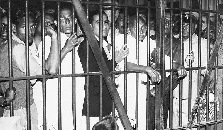 Freedom at hand: Gandhi at Dum Dum jail, Calcutta, in 1946 | Dinodia