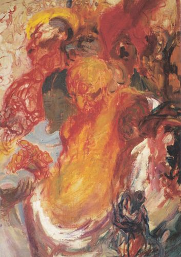 Mysterious Strokes: Topolski's1946 painting of Gandhi | Courtesy: The Estate of Feliks Topolski