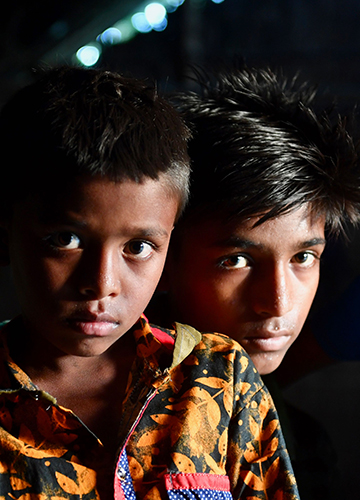 Inheritance of loss: Abdul Haque (left) with elder brother Ramjan Ali of Hatishala village. The siblings have been declared foreigners, even though their parents are Indians.