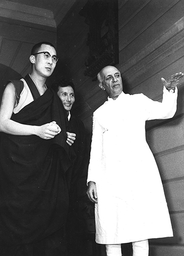 Help and guidance: The Dalai Lama, exiled in India, visiting Jawaharlal Nehru in Delhi in 1959 | Getty Images