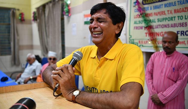 Kamlesh Masalawala at his crying therapy session   Arvind Jain