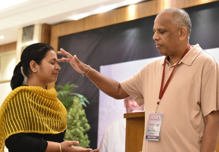 Rae Chandran at his 12-strand DNA activation workshop in Ludhiana | Aayush Goel