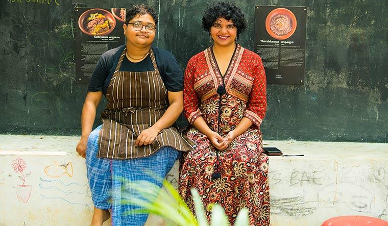 Chef Anumitra Ghosh Dastidar and writer Shalini Krishnan | Vipin Das P.