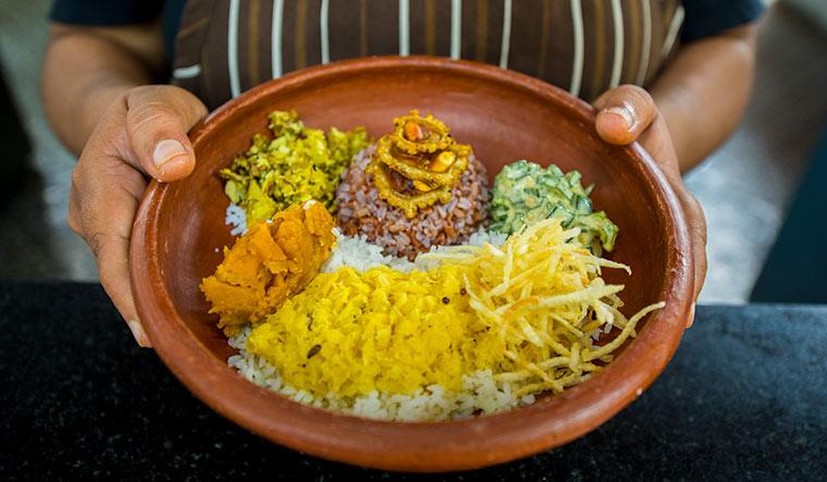 A dish of Hetumari and Tulaipanji rice.