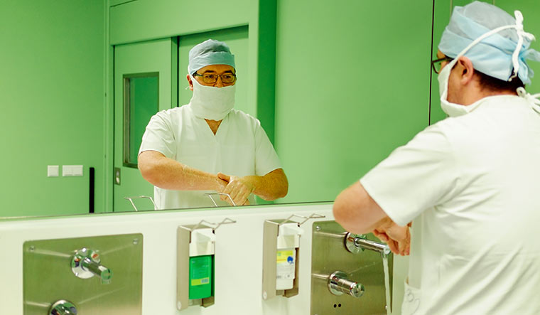 Clean and clear: hospitals should ensure that hygiene protocols are followed to control spread of infection.