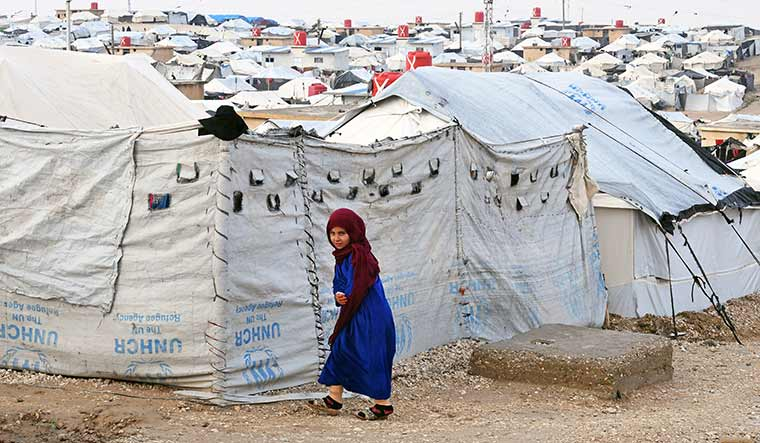 Future tense: A child inmate of the Al-Hol camp.