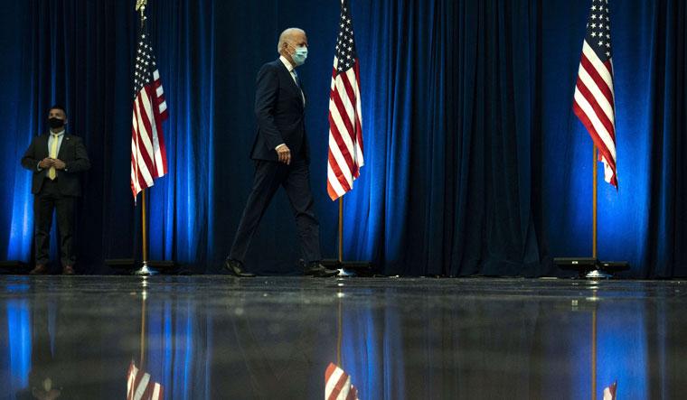 Joe on the go: Biden arrives to speak at Wilmington, Delaware, on November 4 | AFP
