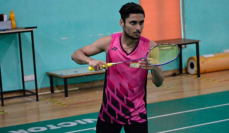 With gratitude: Shivam Mishra, an 18-year-old badminton player, got help from sood to return to India from Indonesia.