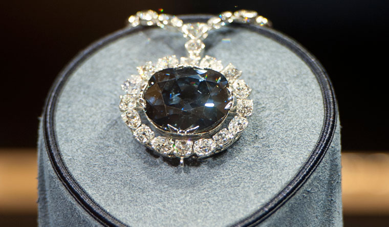 Fabled glow: The Hope Diamond at the Smithsonian  Museum in the US | Getty Images