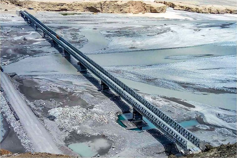 Built to last: Colonel Chewang Rinchen bridge on the Shyok river in Ladakh. China has asked India to remove the bridge | PTI
