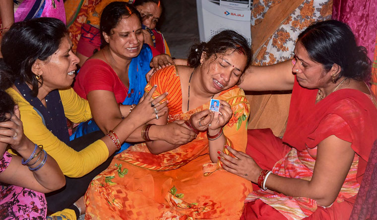 Warrior's kin: Relatives of Hav Sunil Kumar, one of the 20 soldiers who were martyred | PTI