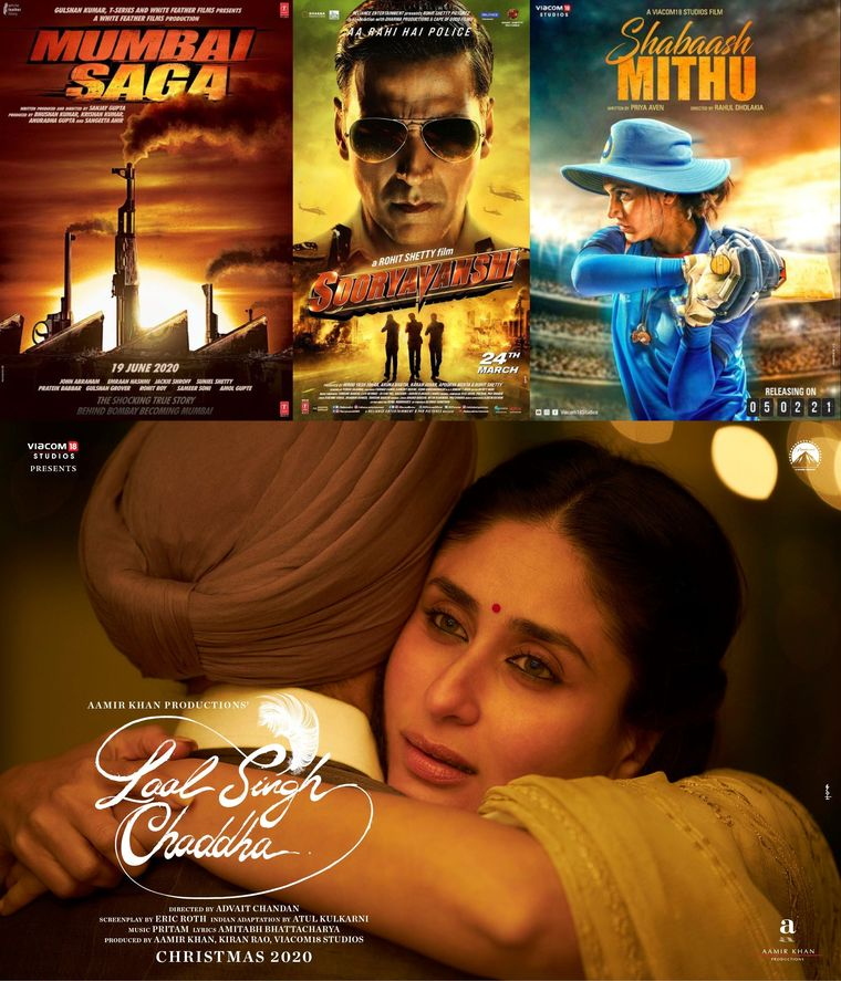 All lined up: Posters of films that are in various stages of production