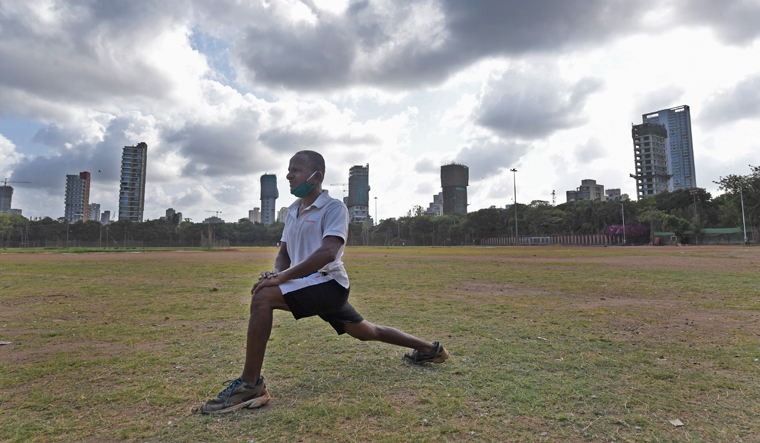 Lone Stretch: Usually Shivaji Park sees a lot of people—cricket players to joggers and walkers—in the morning, but these days very few people step out to exercise   Amey Mansabdar