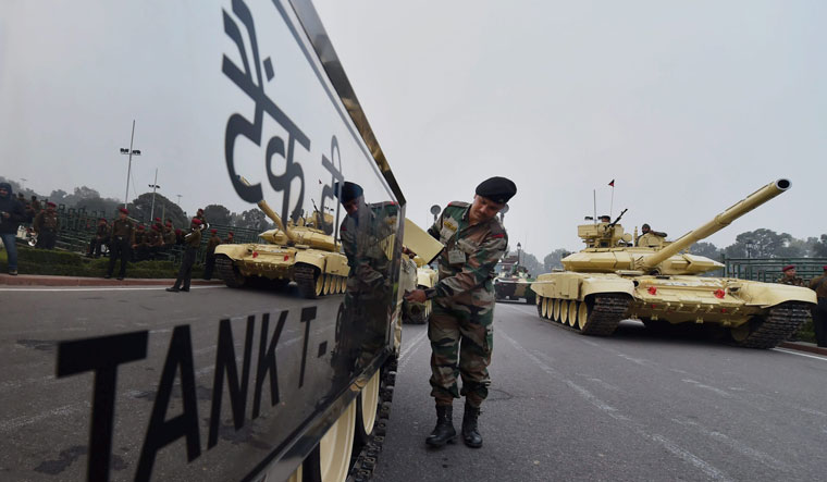 Defence mechanism: A file photo of the T-90 tank. India has deployed the tanks in the Galwan Valley after the recent clash with China | PTI