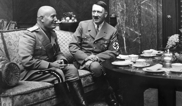 Mussolini and Hitler | Getty Images