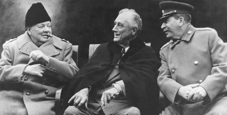 The belligerents: (From left) Churchill, Roosevelt and Stalin | Getty Images