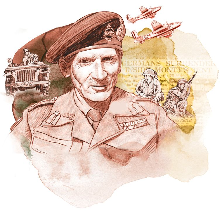 Bernard Montgomery scored a famous victory over Rommel in North Africa, helping turn the tide of the war.