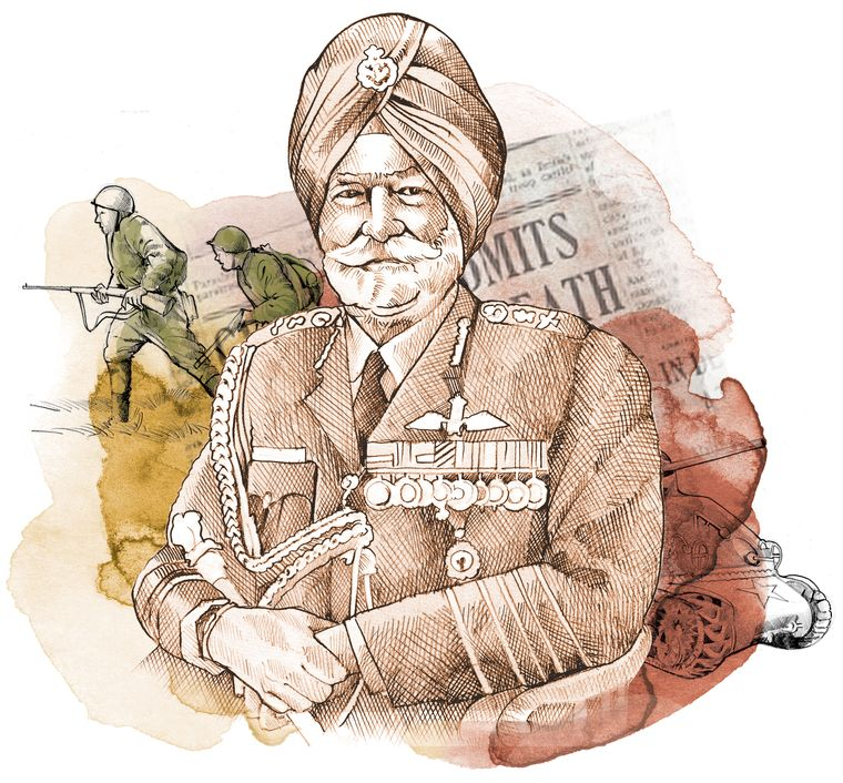 Arjan Singh, was one of the officers in the Indian Air Force's first squadron, which helped thwart the Japanese attack on Imphal. He later rose to become India's only marshal of the air force.