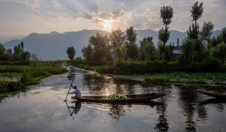 India Kashmir Floating Market