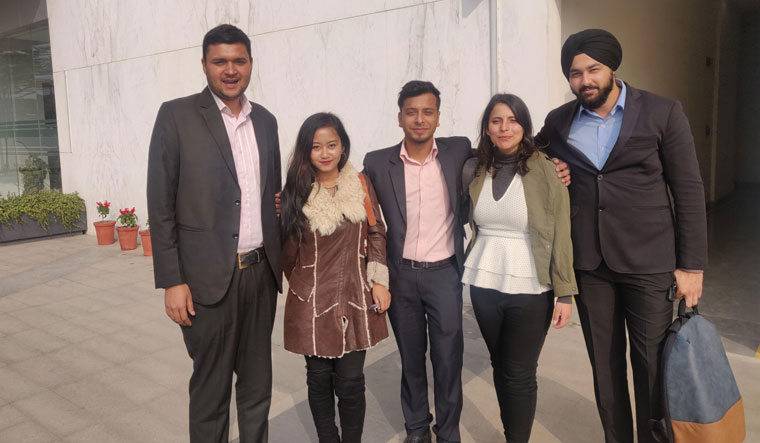 Team members of Sharent, an interactive rental service