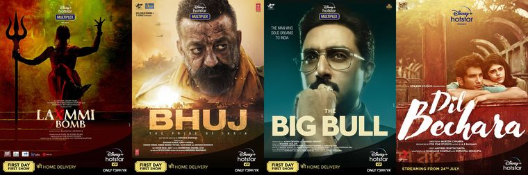 Online shift; Big-ticket films that have moved on to Disney+ Hotstar for a digital release