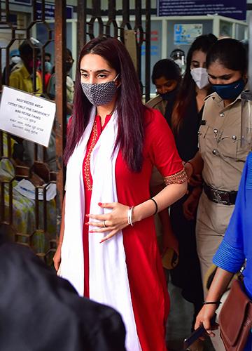 Fallen star: Kannada actor Ragini Dwivedi is in judicial custody in an alleged drug abuse case in the Kannada film industry | PTI