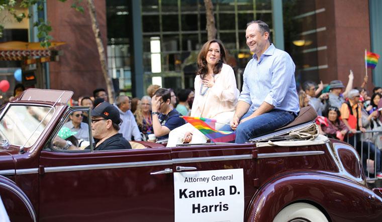 Driven by love: Kamala with her husband, Doug Emhoff | Shutterstock