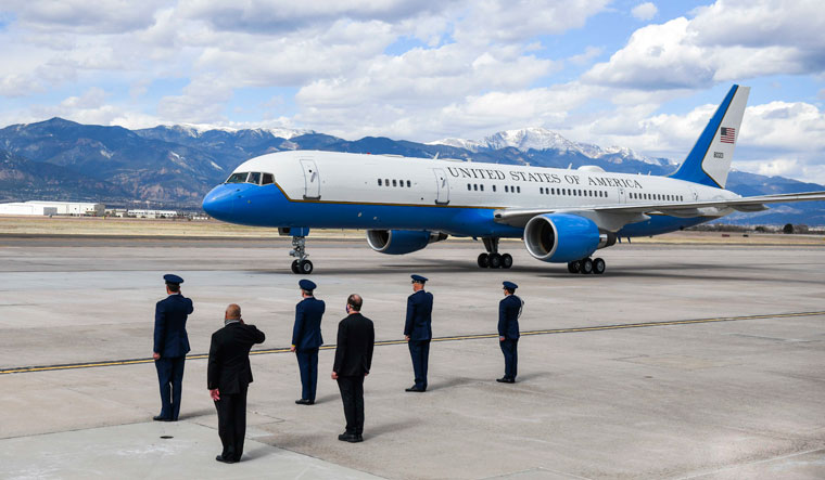 Air Force Two at Peterson Air Force Base, Colorado Springs