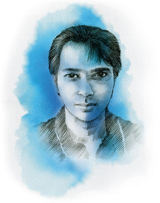 """Moeen Nawaz, Dawood's son - Dawood would like Moeen to inherit his mantle, but many in the D Company consider him to be """"soft""""   Illustration: Job P.K."""