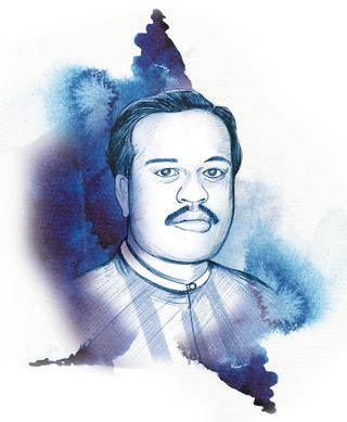 Anis Kaskar, Dawood's brother. Lives in Karachi, and is in charge of the tobacco business and paper factories that print fake Indian currency notes   Illustration: Deni lal