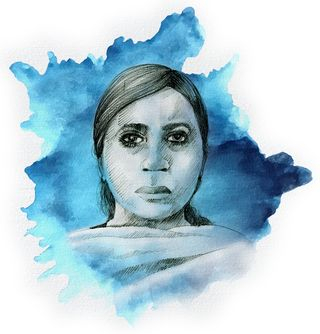 Mahjabeen Shaikh, Dawood's wife. Ensures that Dawood's children maintain ties with the extended family in India and abroad    Illustration: Job P.K.