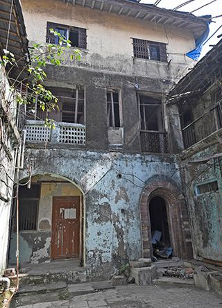 The building on Pakmodia Street in Mumbai, which housed the two-room house of the Kaskars   Amey Mansabdar