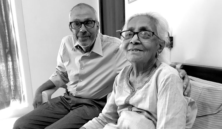 Memories charm: Ghandy with Anuradha's mother, Kumud Shanbag. She died on December 12, 2020, at the age of 91