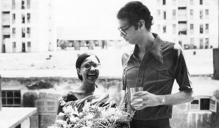 Ghandy with Anuradha in Mumbai a few days after the wedding