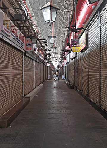 Out of business: Crawford Market, one of the busiest markets in Mumbai, is largely deserted these days after the government imposed restrictions | Amey Mansabdar