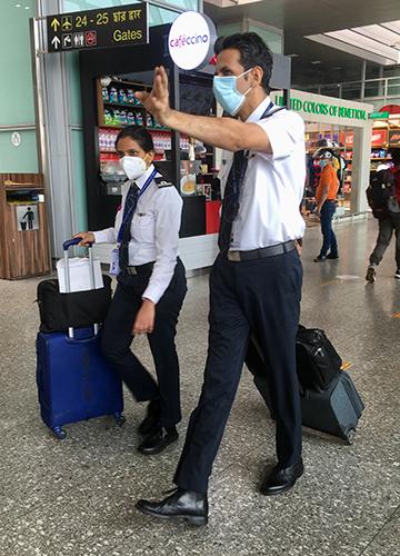 Safe journey: Pilots at Kolkata airport | Salil Bera