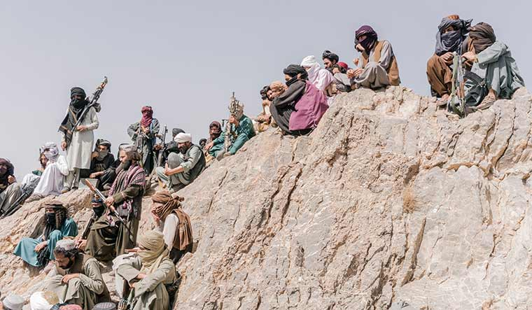 Turf war: Members of a faction of the Taliban.