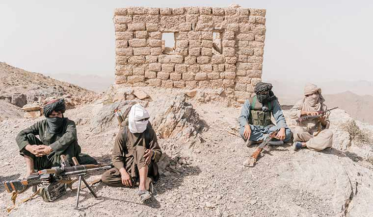 Uncertain future: Fighters of a Taliban faction in Herat.