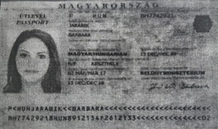 Hidden links: The passport allegedly used by Barbara Jarabik.