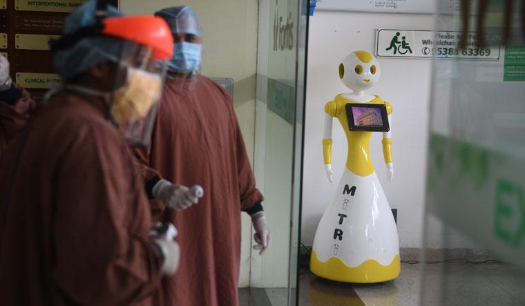 Bot care: Mitri robot at work in Fortis hospital, Bengaluru | Bhanu Prakash Chandra